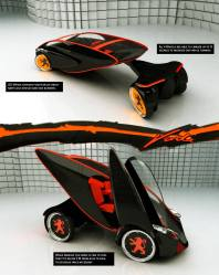 Car design contest winner and finalist Peugeot Verde