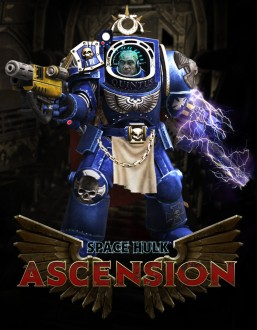 Space Hulk marine by Michael, background by Javier, logo by Jesper