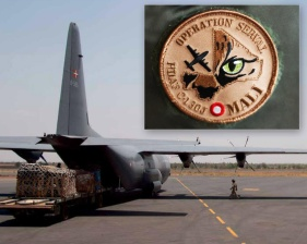 "We designed the badge for the danish Hercules ""Serval"" mission in Mali"